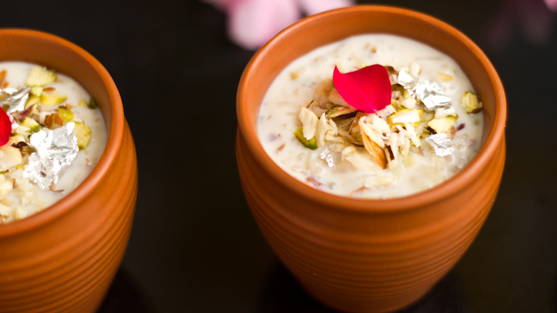 Rose Flavored Rice Kheer