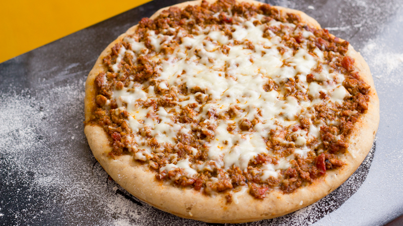 Chicken Keema Pizza